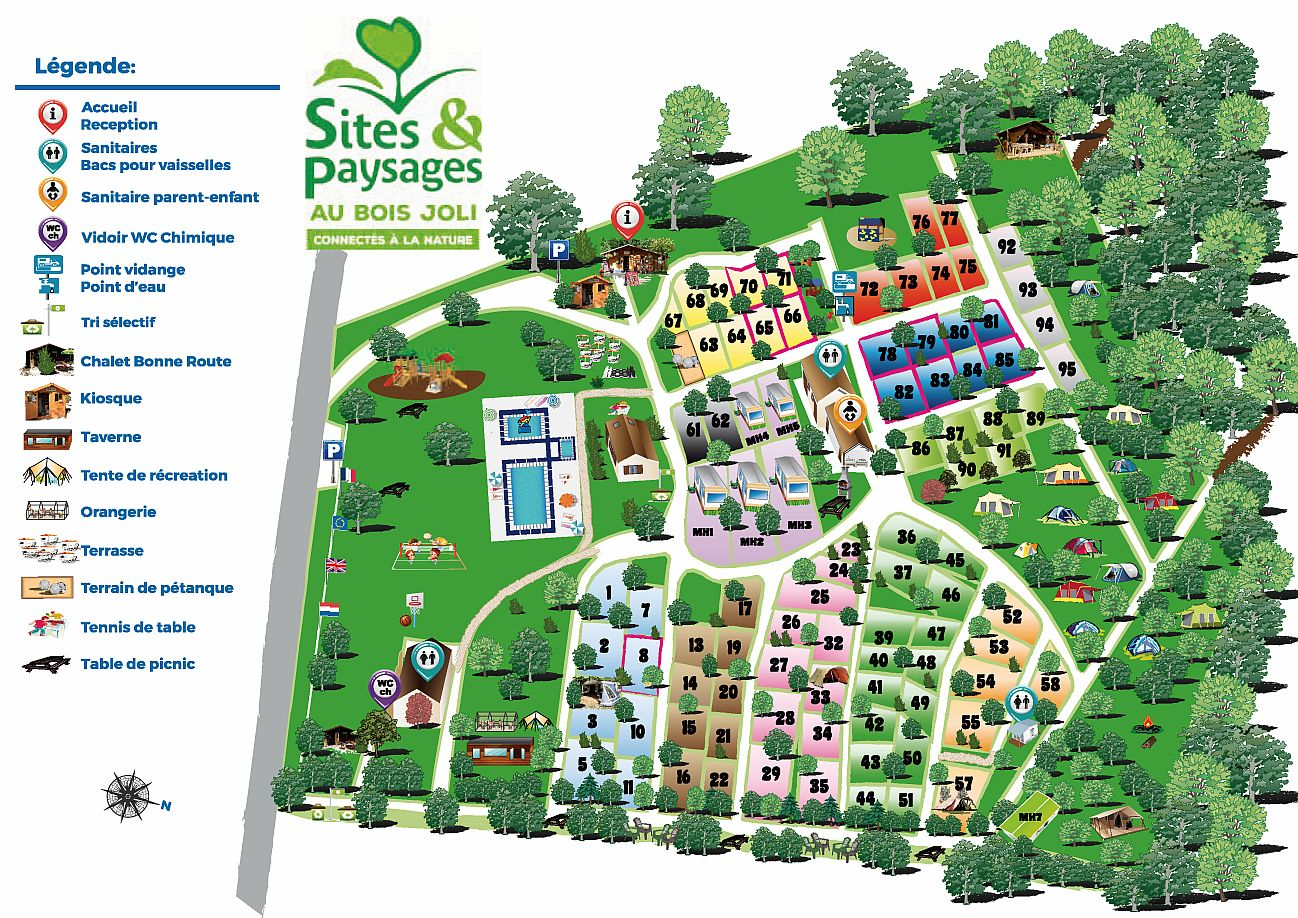 map of the campsite